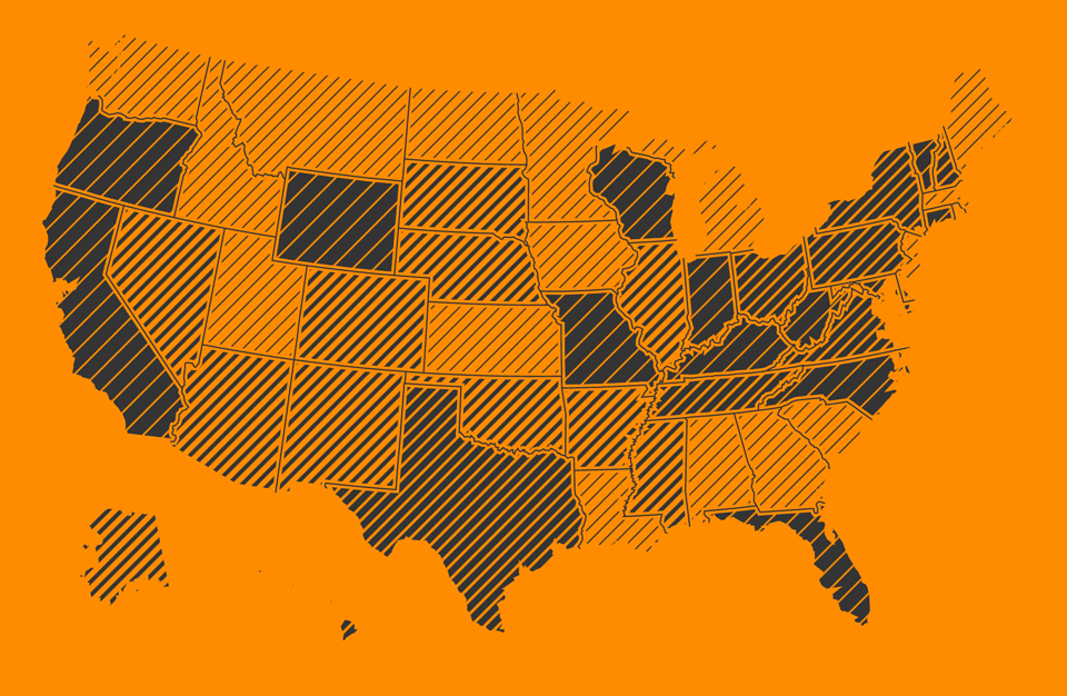 Texture.js United States Visualization